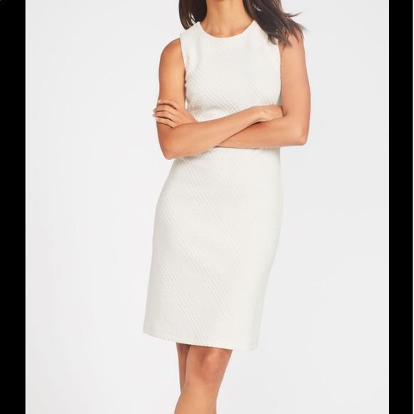 J McLaughlin white sleeveless sheath